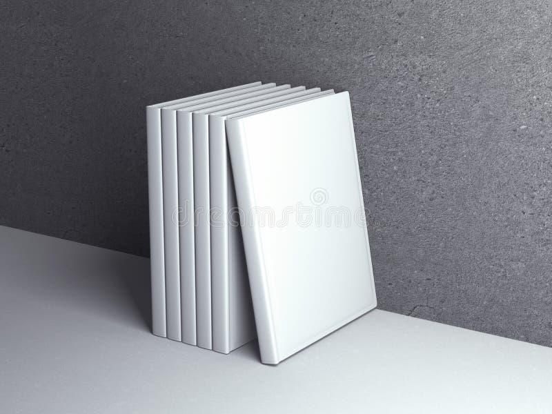 Vertikal stehende Schablonenbücher lizenzfreie abbildung