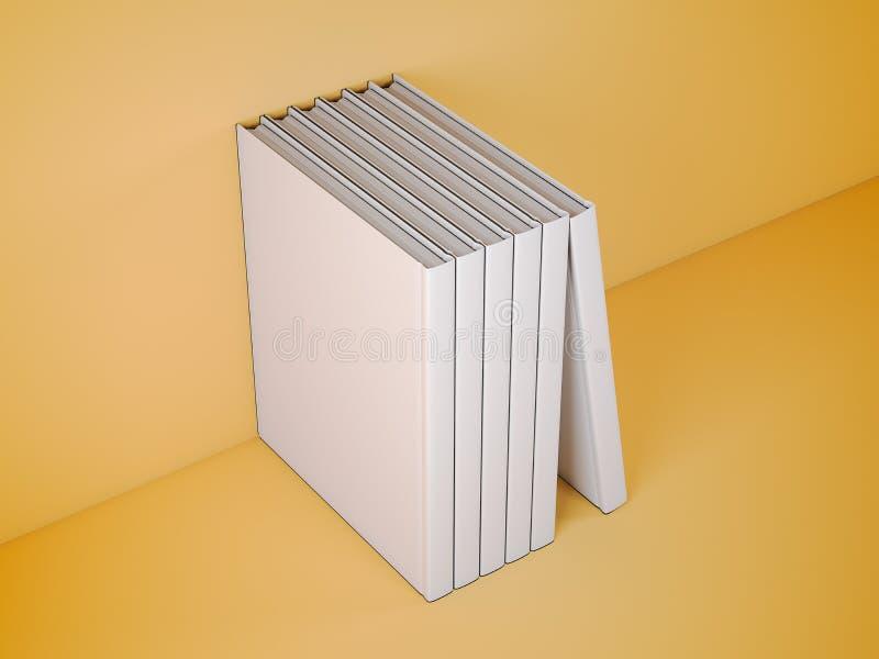 Vertikal stehende Schablonenbücher Wiedergabe 3d vektor abbildung
