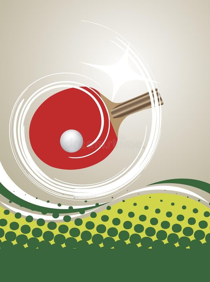 Vertikal Tabelle-Tennisplakat stock abbildung