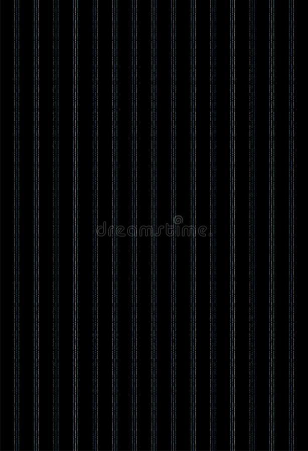 3 vertikala avbrottslinjer för färger på svart grund stock illustrationer