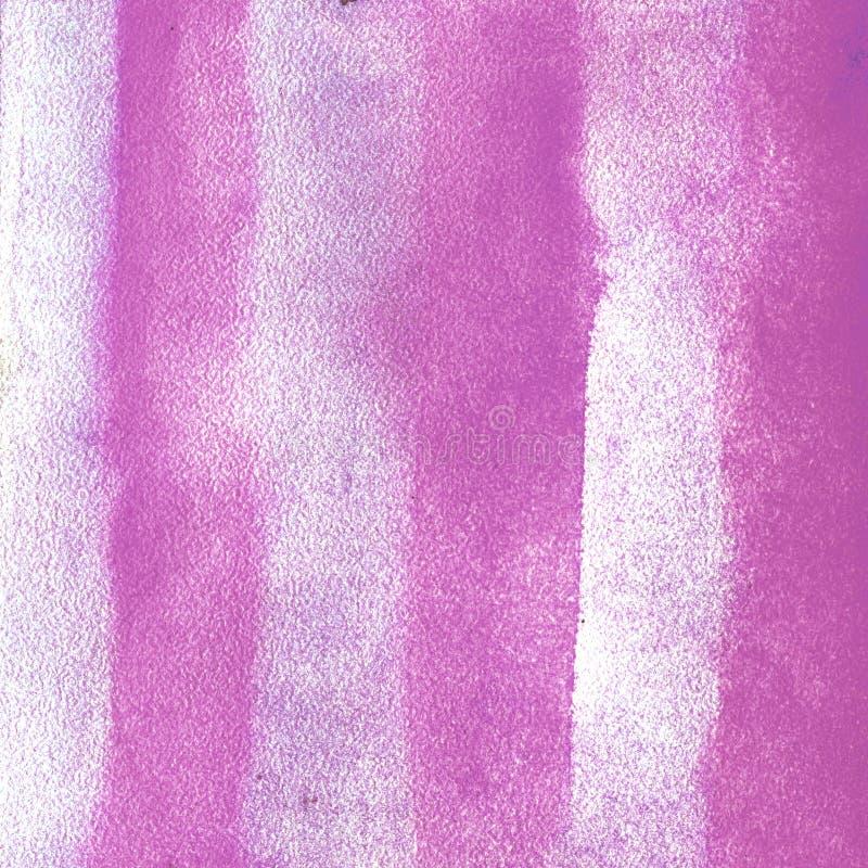 Vertikala band för vattenfärgtextur av magentafärgade rosa färger illustration Bakgrund för vattenfärggrungeabstrakt begrepp, flä vektor illustrationer