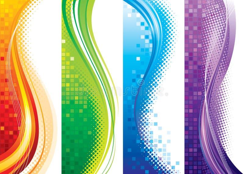 vertikala baner vektor illustrationer