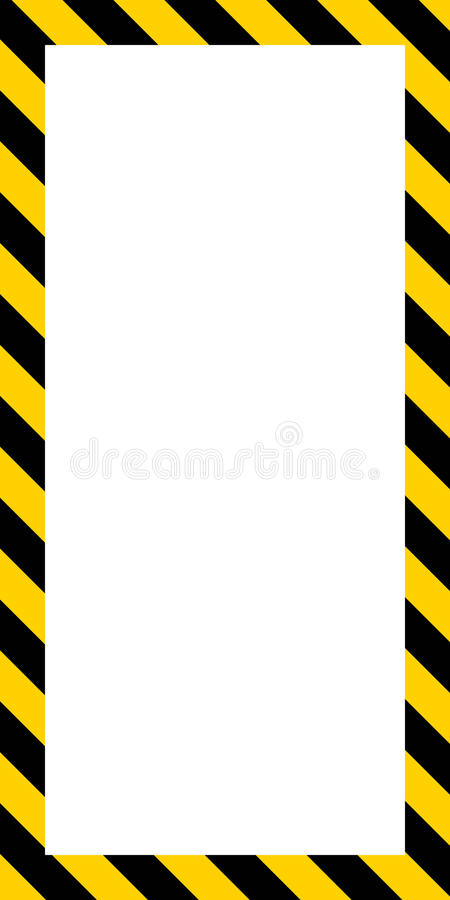 Vertikala banerram, diagonalguling och svartband stock illustrationer