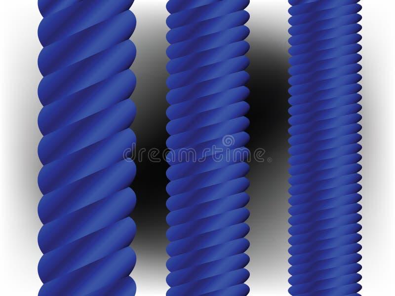 vertikala blåa kolonner vektor illustrationer
