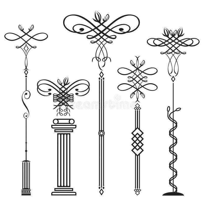 vertikala element vektor illustrationer