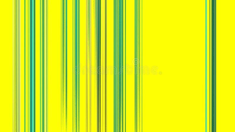 Vertikala gröna linjer på guling stock illustrationer
