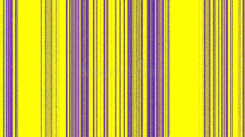 Vertikala magentafärgade purpurfärgade linjer på guling stock illustrationer