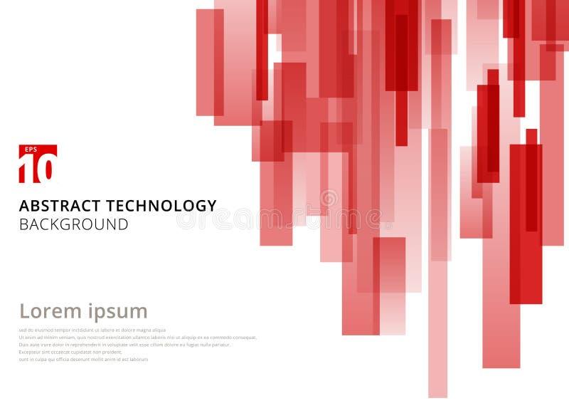 Vertikale überschnittene geometrische Quadratform der abstrakten Technologie lizenzfreie abbildung