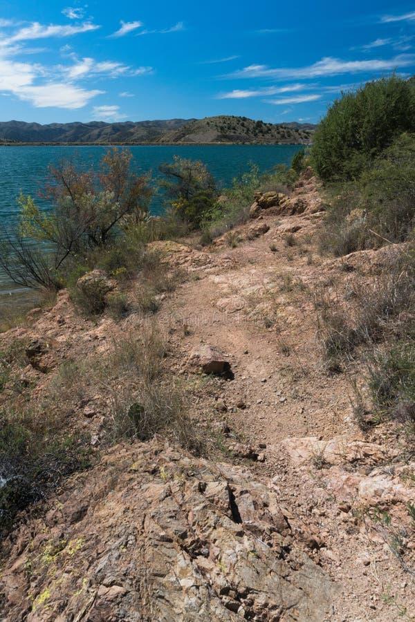 Vertikale Aussicht von Bill Evans Lake im New Mexiko lizenzfreies stockbild
