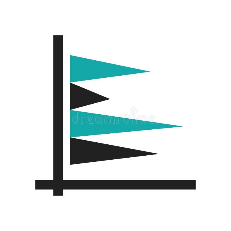 Vertikale Daten halten grafisches Ikonenvektorzeichen ab und das Symbol, das auf weißem Hintergrund, vertikale Daten lokalisiert  lizenzfreie abbildung