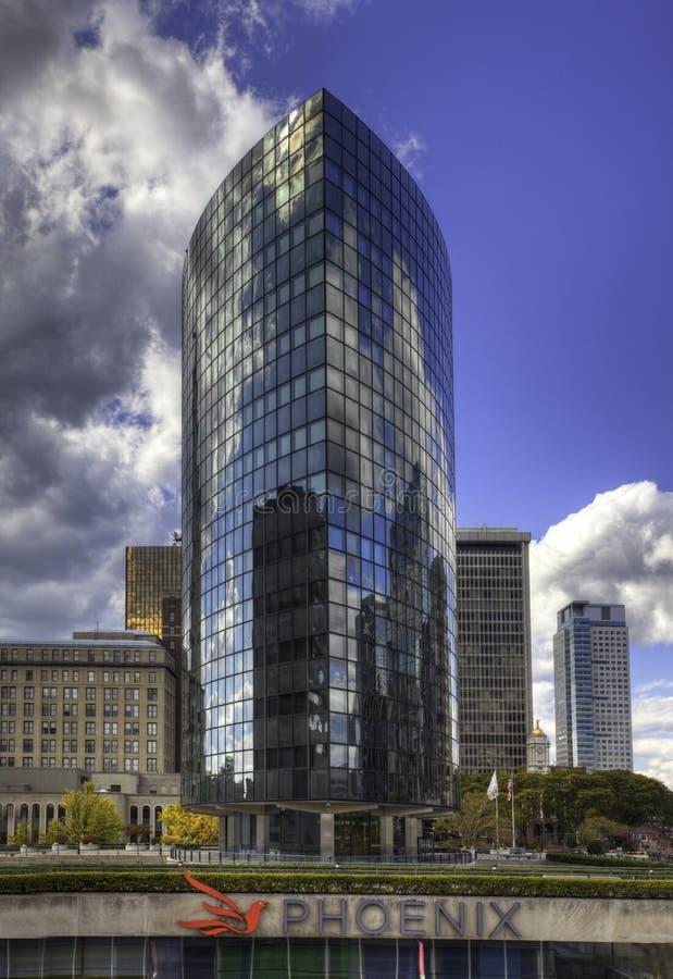 Vertikale des Phoenix-Gebäudes, Hartford, Connecticut lizenzfreies stockbild