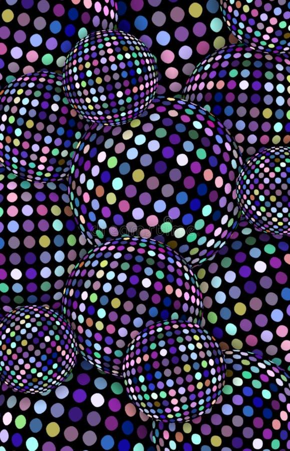 Vertikale Fahne der Funkelndisco-Bälle Blaue Flieder funkelt Beschaffenheit Schimmerbereiche extrahieren Hintergrund Festliches k lizenzfreie stockbilder