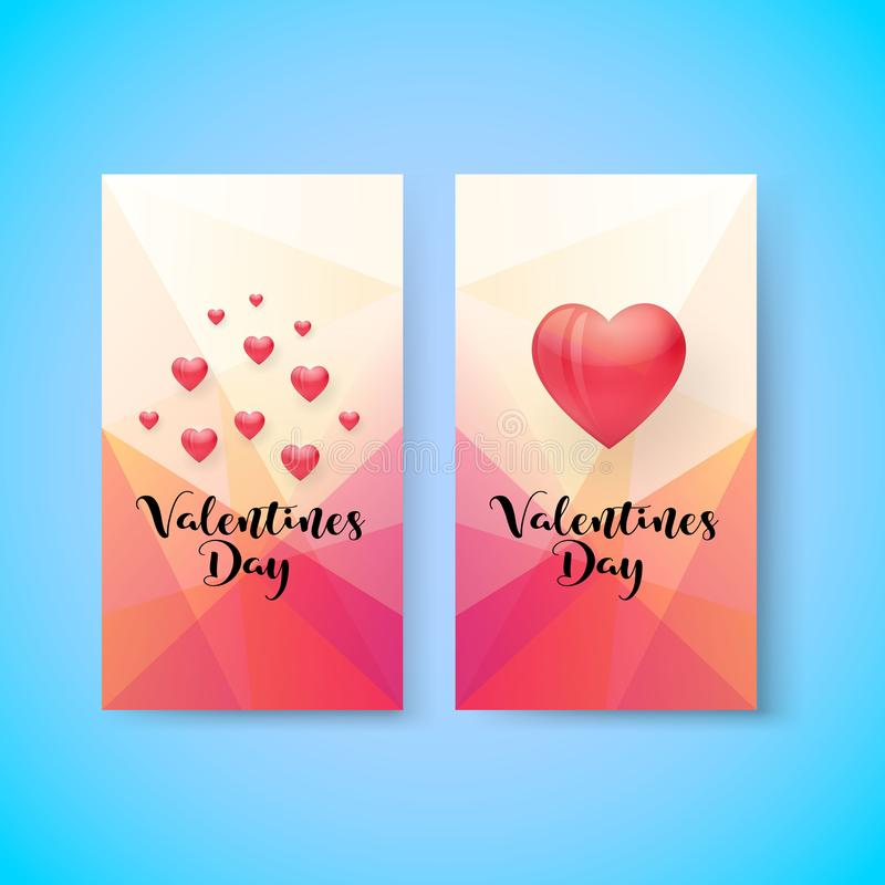 Vertikale Fahne des Valentinsgrußtagesverkaufs, Vektor vektor abbildung