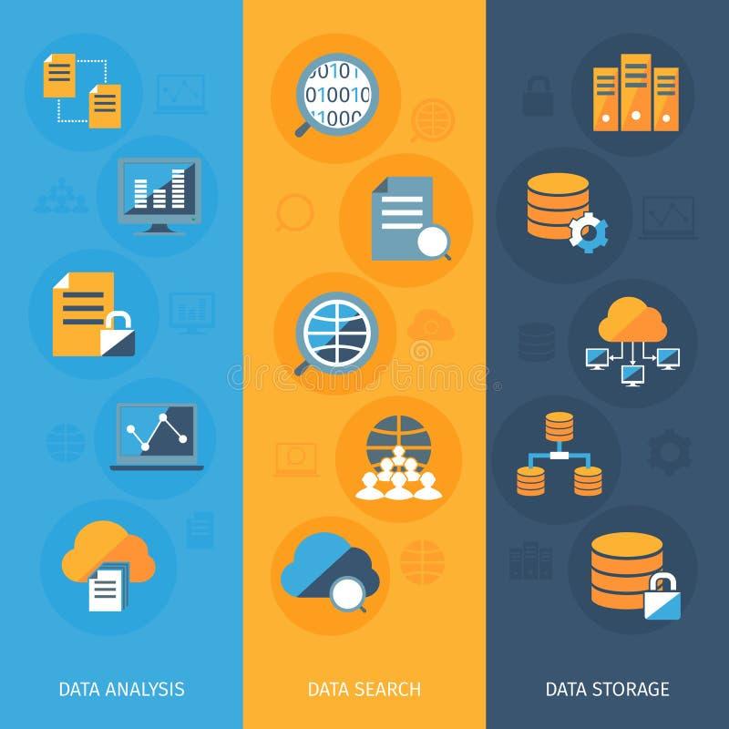 Vertikale Fahnen der großen Daten eingestellt lizenzfreie abbildung