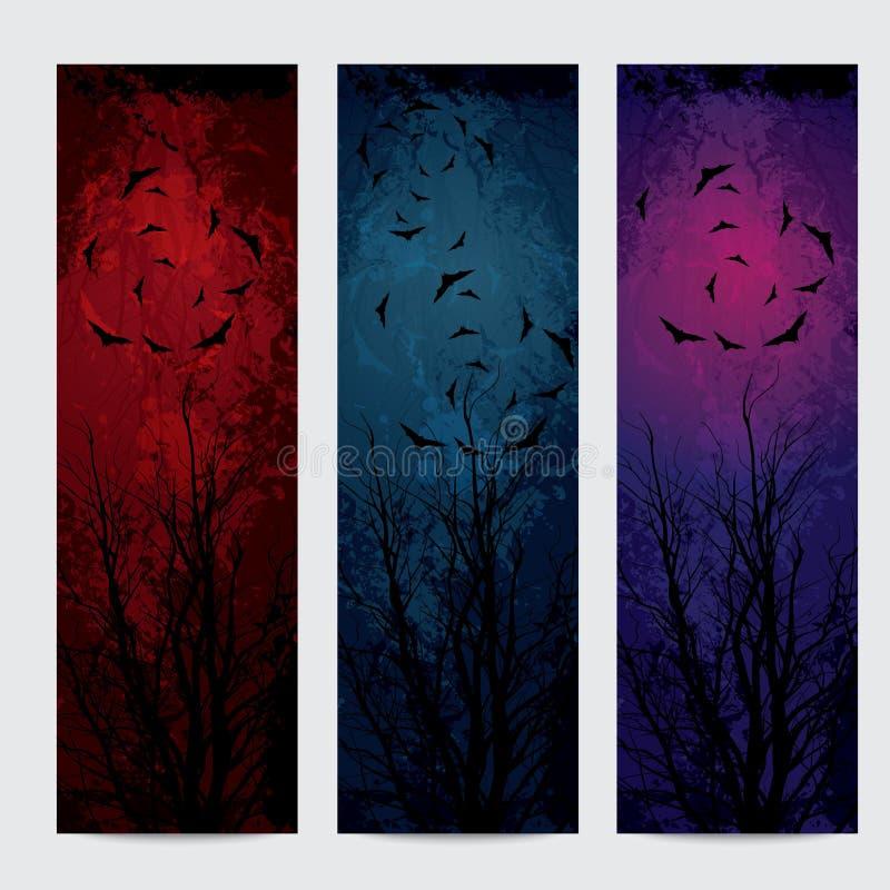 Vertikale Fahnen Halloweens eingestellt lizenzfreie abbildung