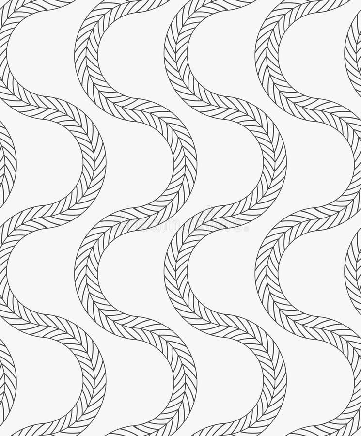 Vertikale gewellte Zöpfe der schwarzen Markierung lizenzfreie abbildung