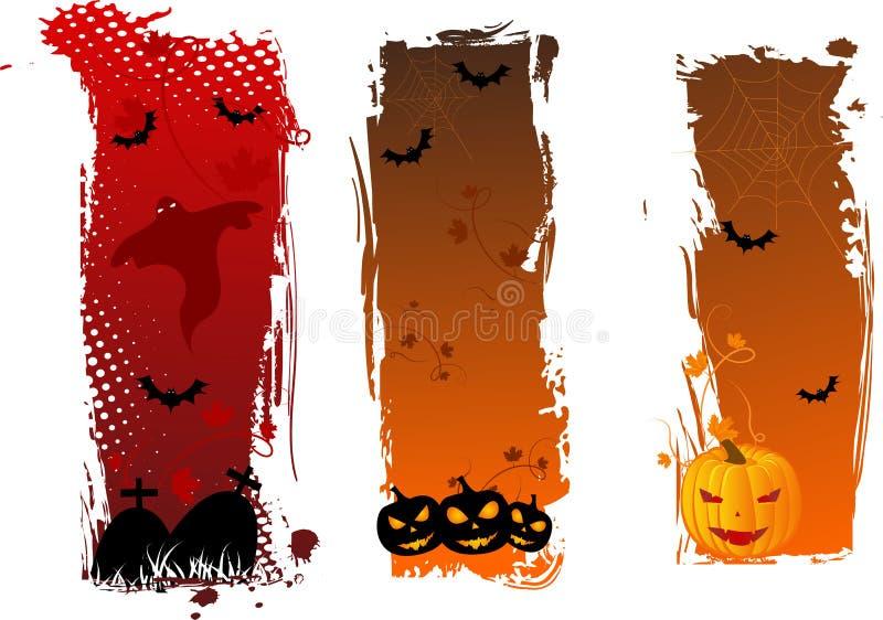 Vertikale grungy Halloween-Fahnen vektor abbildung