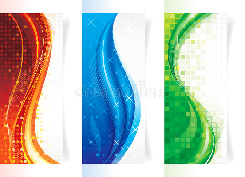 Vertikale Kurven-Fahnen lizenzfreie abbildung
