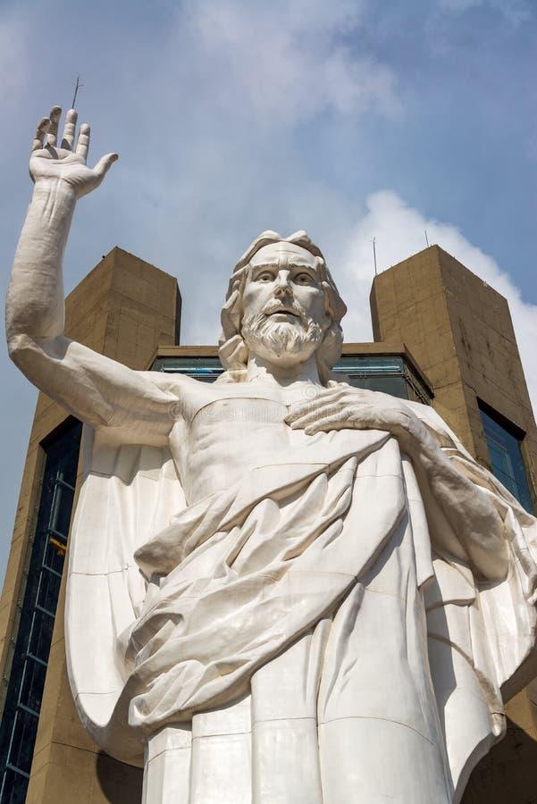 Vertikale Nahaufnahme-Ansicht von Jesus lizenzfreies stockbild