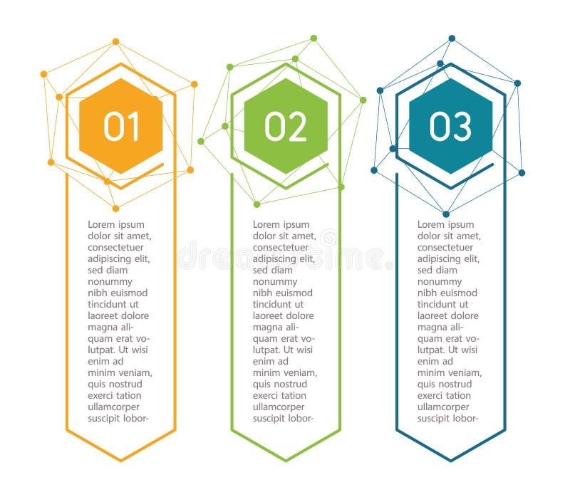 Vertikale Schritte, infographic Elemente Buntes Menü des Entwurfs für APP-Schnittstelle Zahlwahlen Webdesign von Knöpfen lizenzfreie abbildung