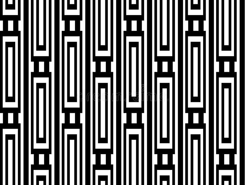 Vertikale Schwarzweiss-Kette vektor abbildung