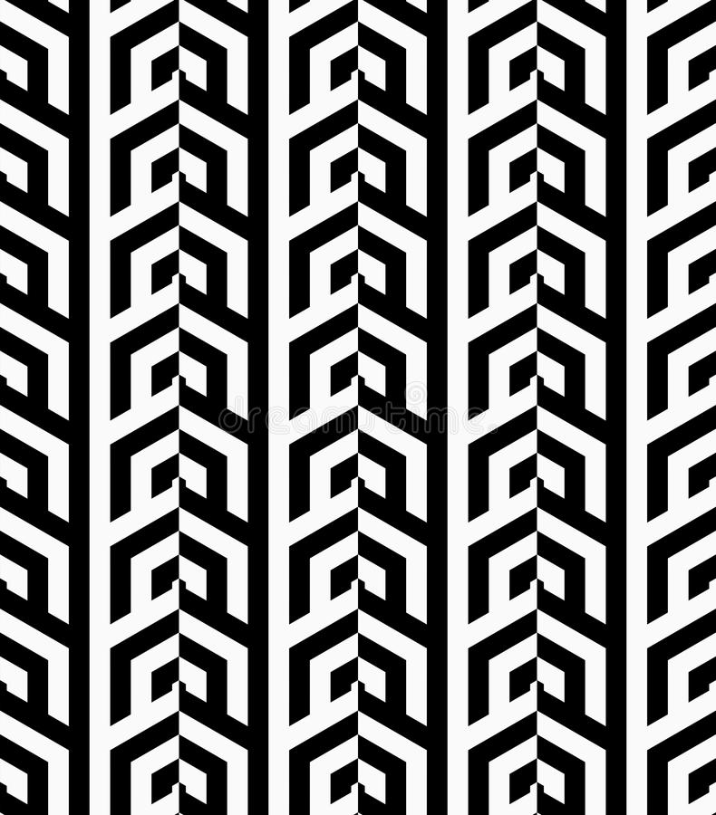Vertikale Schwarzweiss-Reihen lizenzfreie abbildung