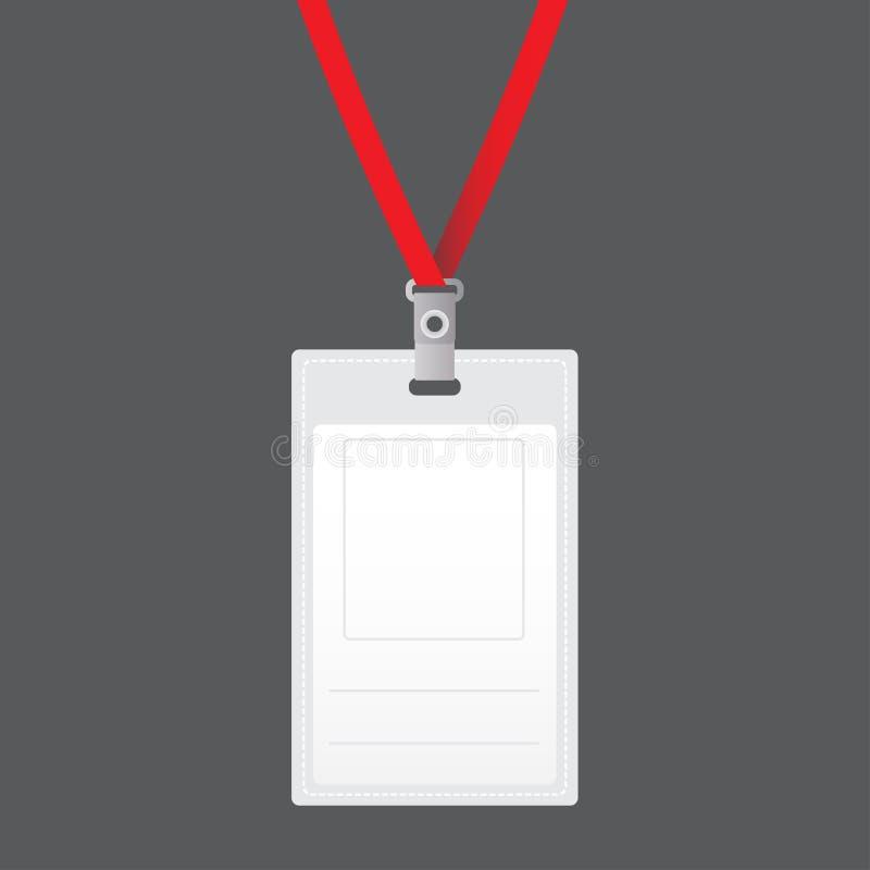 Vertikaler Ausweisinhaber des leeren Vektors mit heller heller Spitze Lokalisiert auf grauem Hintergrund für Design und Branding  vektor abbildung
