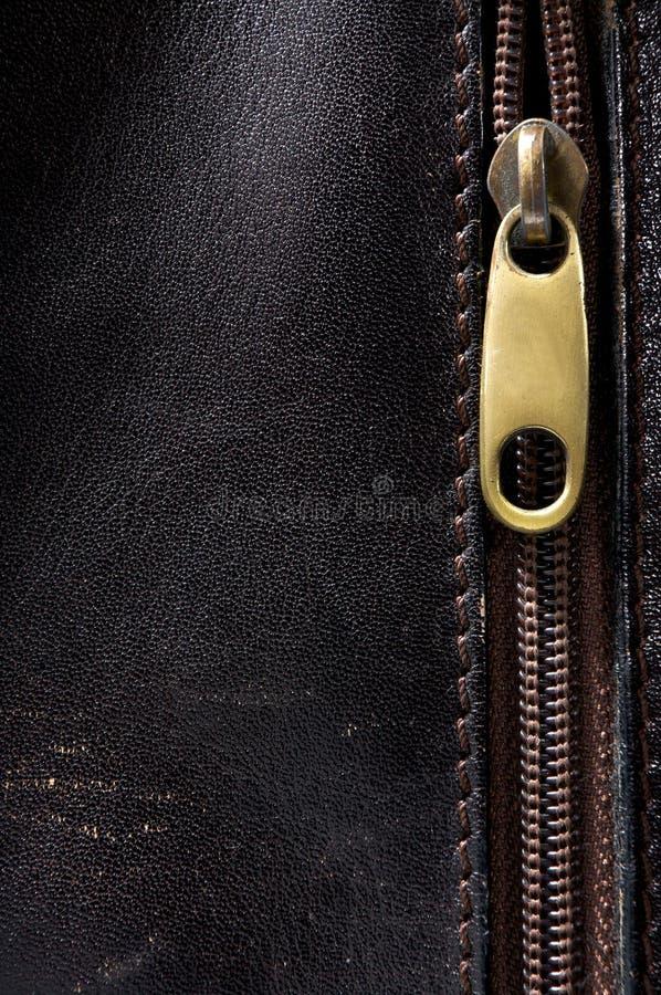 Vertikaler lederner Hintergrund und Verbindungselement stockfotografie