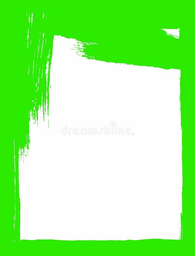Vertikaler Schmutzhintergrund Aquarell, Farbe, Tinte, Skizze Wei? und Gr?n stock abbildung