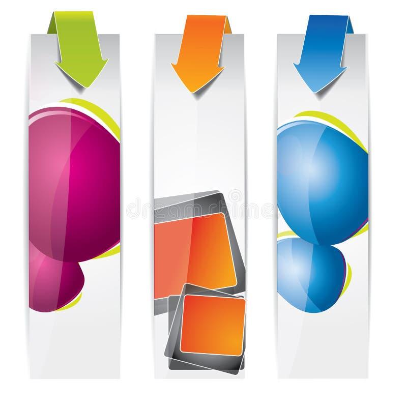 Vertikales Fahnenset der Spracheluftblase stock abbildung