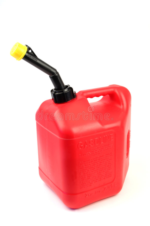 Vertikales Gas kann lizenzfreie stockfotografie