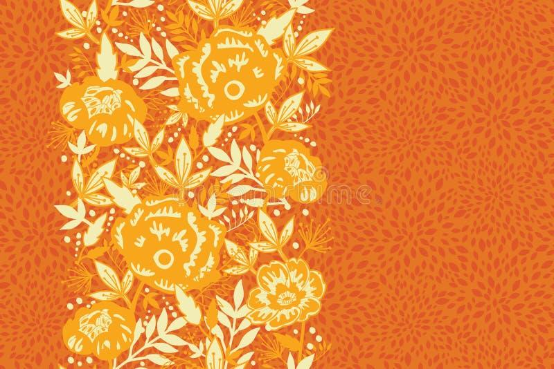 Vertikales nahtloses Muster der Feuerblumen und -blätter