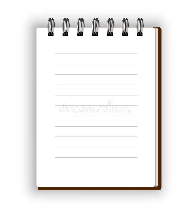 Vertikales Notizbuch vektor abbildung