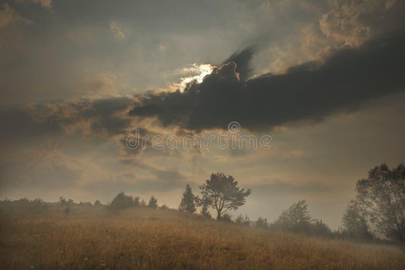 Vertikales Panorama von 3 HDR Bildern lizenzfreie stockfotografie
