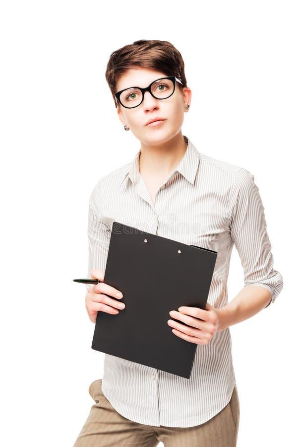 Vertikales Porträt einer Geschäftsfrau mit 25 Jährigen stockfotos