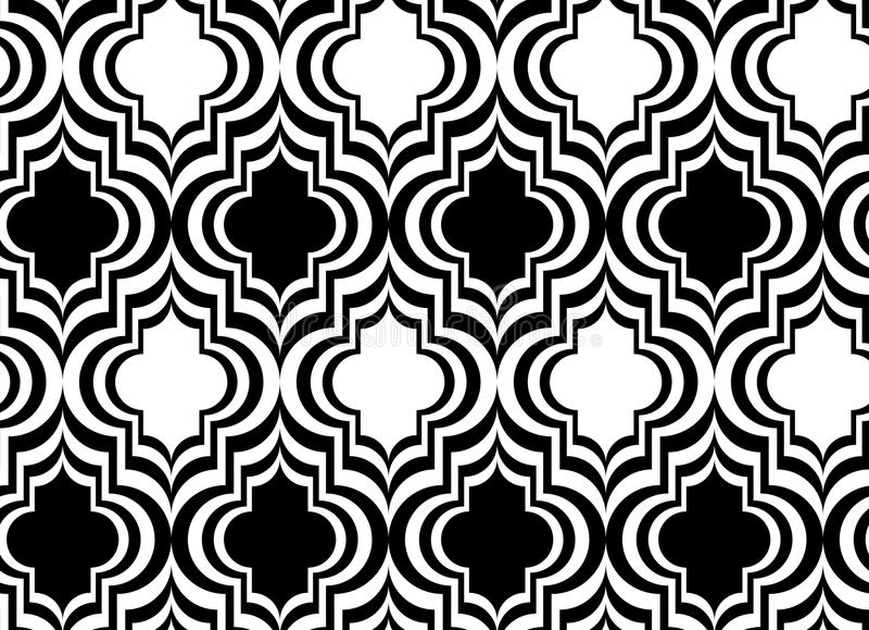 Vertikales Schwarzweiss-Marrakesch stock abbildung