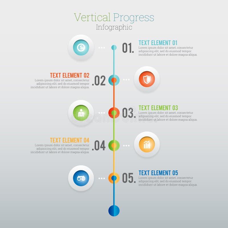 Vertikalt framsteg Infographic vektor illustrationer