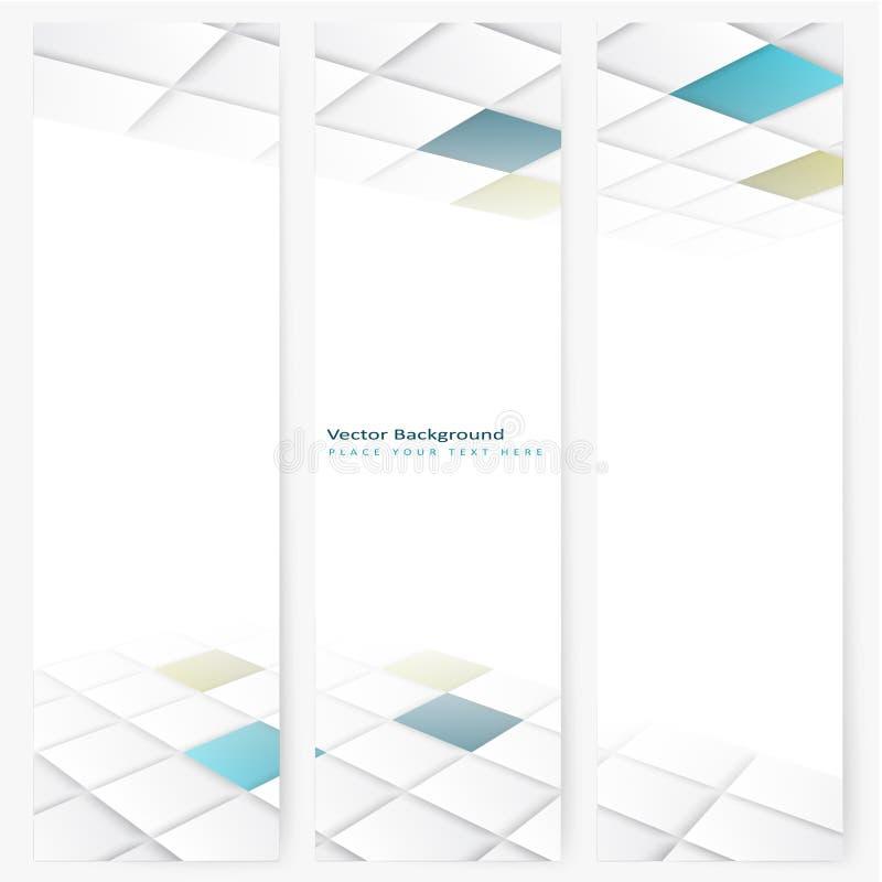 Vertikalt perspektivbaner för abstrakt mall vektor illustrationer