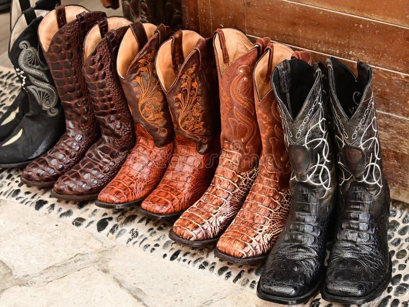 Vertoning van Cowboylaarzen stock afbeelding