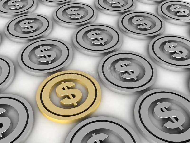 Vertoning van dollarteken royalty-vrije illustratie
