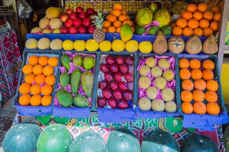Vertoning van vruchten in een winkel royalty-vrije stock fotografie