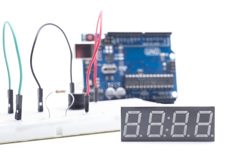 Vertoning voor arduino stock afbeelding