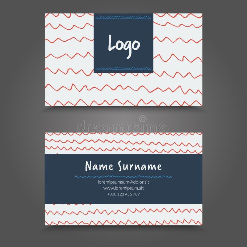 Vertor Visit Card Template Design. vector illustration