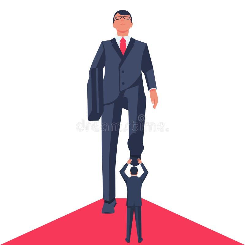 Vertrappelende zakenman Bedrijfs concept stock illustratie