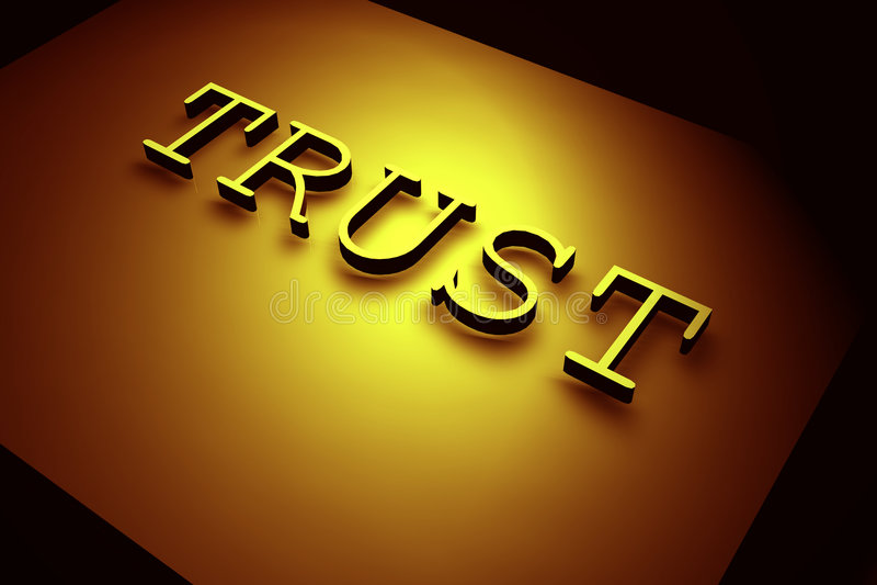 Vertrauen lizenzfreie abbildung