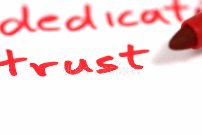 Vertrauen lizenzfreies stockbild