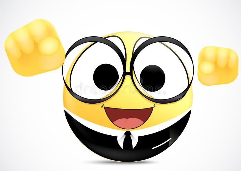 Vertrauens-Büroangestellter Emoticon lizenzfreie abbildung