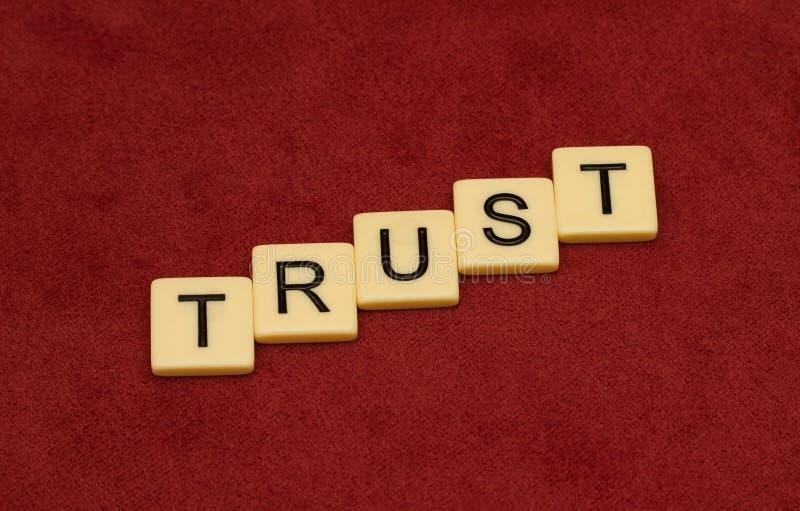 Vertrauenszeichen lizenzfreie stockbilder