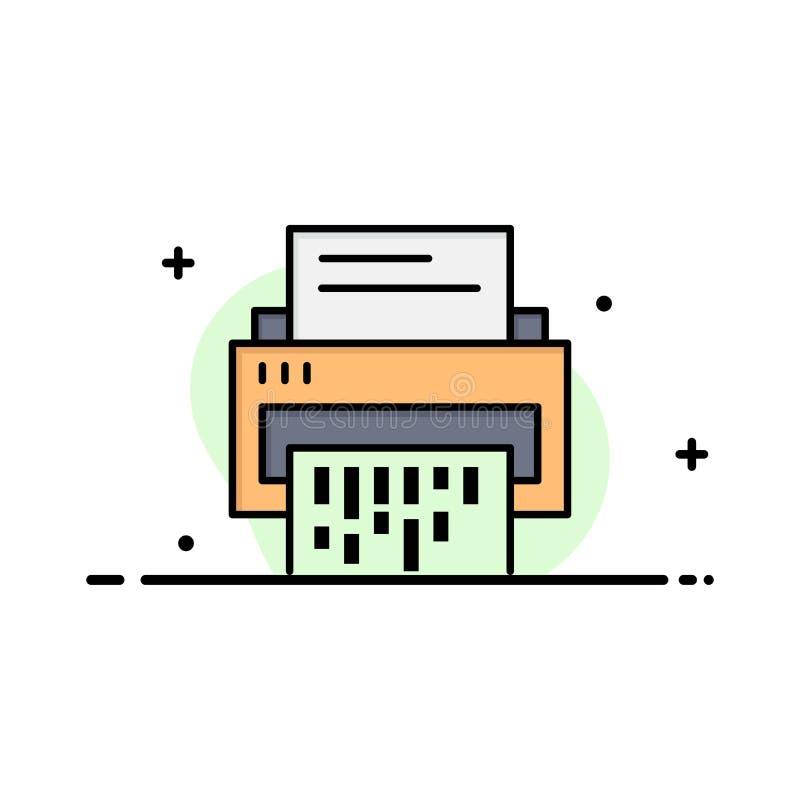 Vertraulich, Daten, Löschung, Dokument, Datei, Informationen, Reißwolf-Geschäft Logo Template flache Farbe lizenzfreie abbildung
