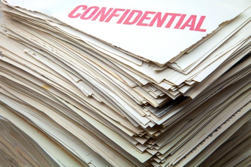 Vertrauliche Dokumente lizenzfreie stockfotos